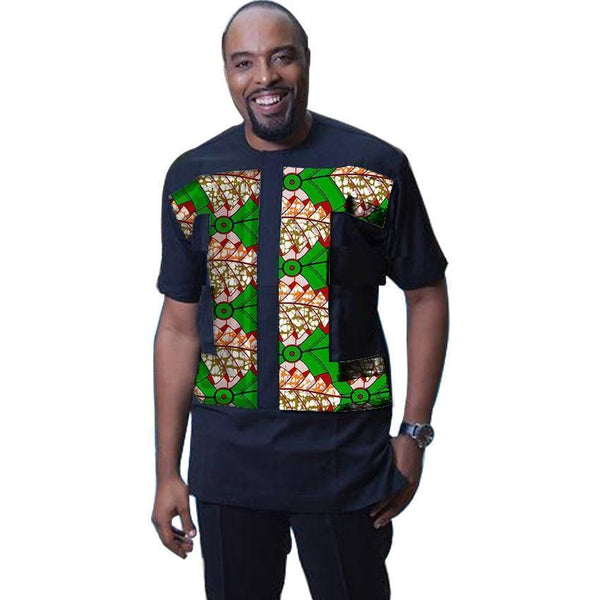 Men Dashiki African Print - African Shirt- Online at African Men Clothes