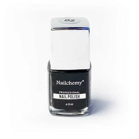 Nailchemy Nail Polish - 02 - Black - 9ml