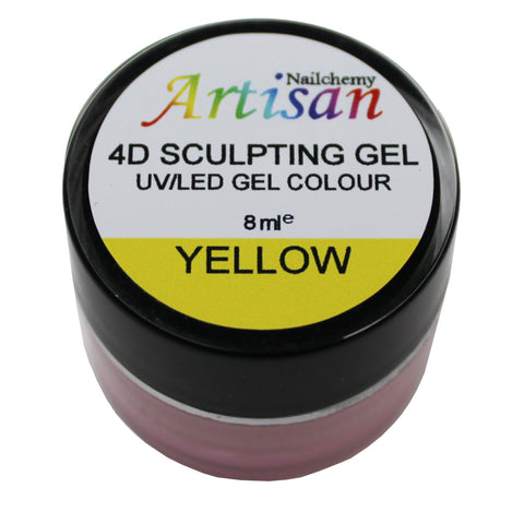 Artisan 4D Sculpting Gel - Yellow 8ml