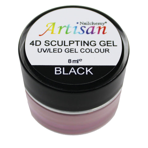 Artisan 4D Sculpting Gel - Black 8ml