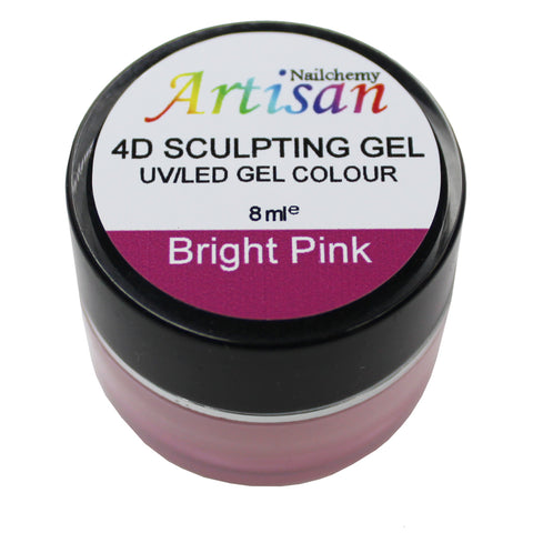 Artisan 4D Sculpting Gel - Bright Pink 8ml
