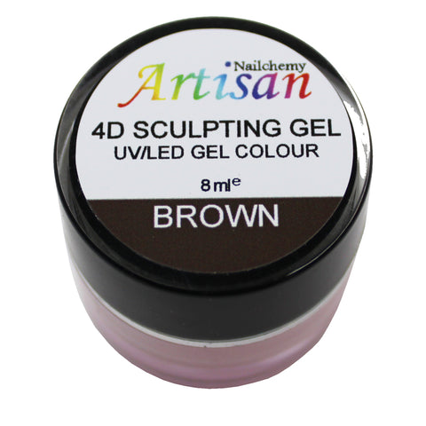 Artisan 4D Sculpting Gel - Brown 8ml