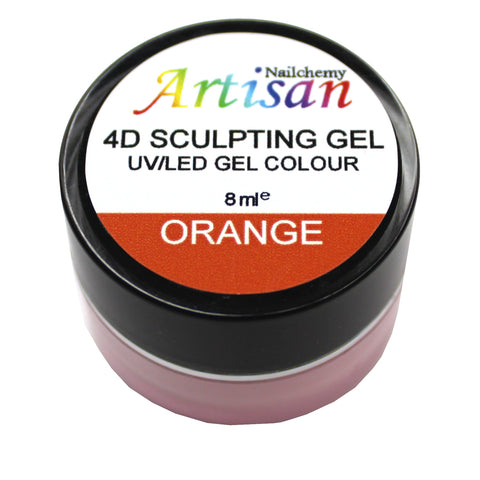 Artisan 4D Sculpting Gel - Orange 8ml
