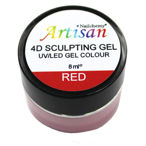 Artisan 4D Sculpting Gel - Red 8ml