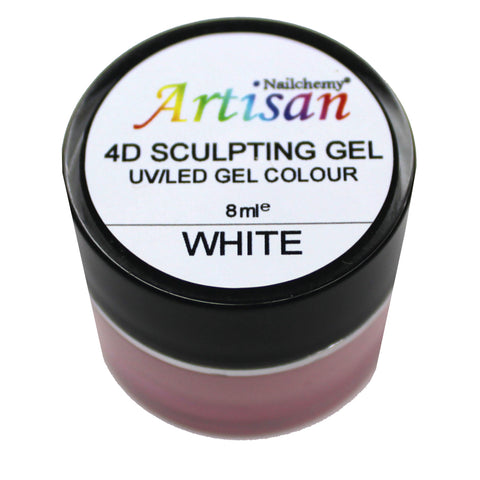 Artisan 4D Sculpting Gel - White 8ml