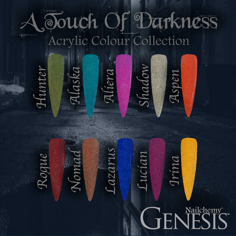 A Touch Of Darkness - Genesis Coloured Acrylic - Full Set (10 x 20g)