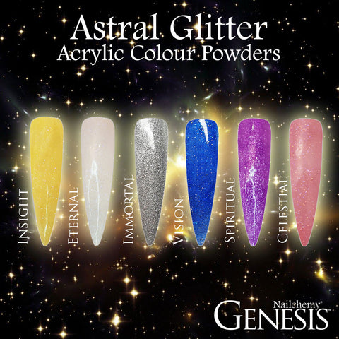 Astral Glitter Full Collection - Genesis Coloured Acrylic