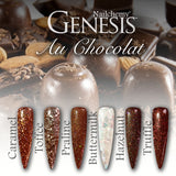 Au Chocolat - Genesis Coloured Acrylic - Full Set (6 x 20g)