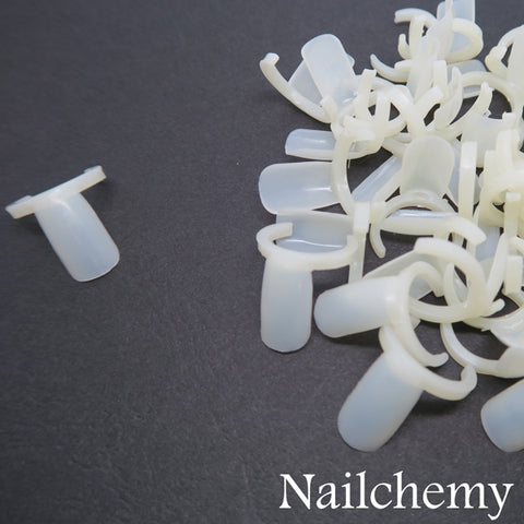 50 x Opaque Bottle Lid Display Clip On Tips