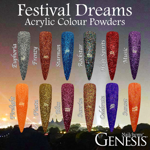 Festival Dreams Full Collection - Genesis Coloured Acrylic