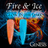 Fire & Ice - Glow In The Dark DUO - Genesis Coloured Acrylic - 25g