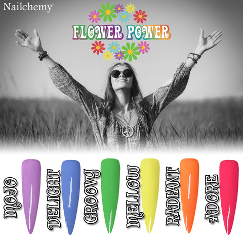Flower Power Collection - Soak Off Gel Polish - Full Set 15ml