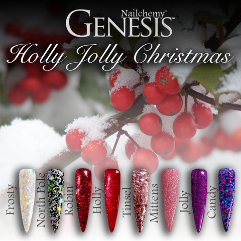 Holly Jolly Christmas - Genesis Coloured Acrylic - Full Set (8 x 20g)