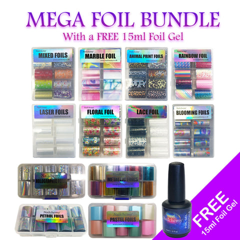 Mega Foil Bundle - With FREE 15ml Foil Gel