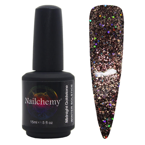 Midnight Goldstone - Winter Solstice - Soak Off Gel Polish - 15ml