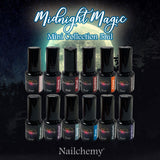 Midnight Magic - Soak Off Gel Polish - Full Set
