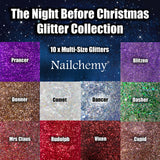 The Night Before Christmas - (10 x Glitter) - Full Set