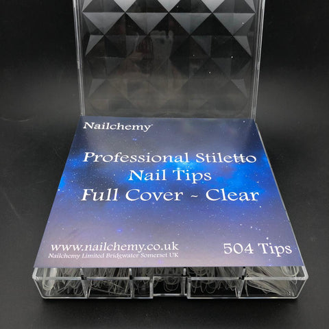 Professional Nail Tips - Full Cover Stiletto