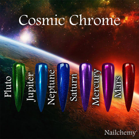 Cosmic Chrome - Full Set - Planets x 6