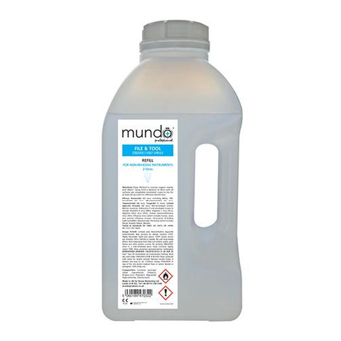 Mundo File & Tool Disinfectant Spray 2L Refill