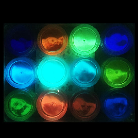 Glow in the Dark Pigment set