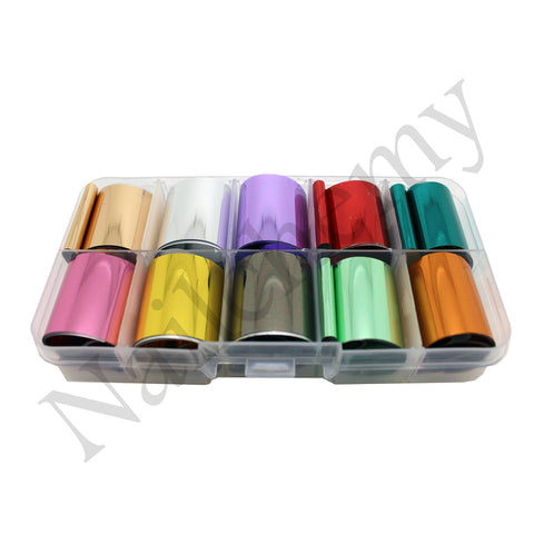 Metallic Foils - 10 x Colours