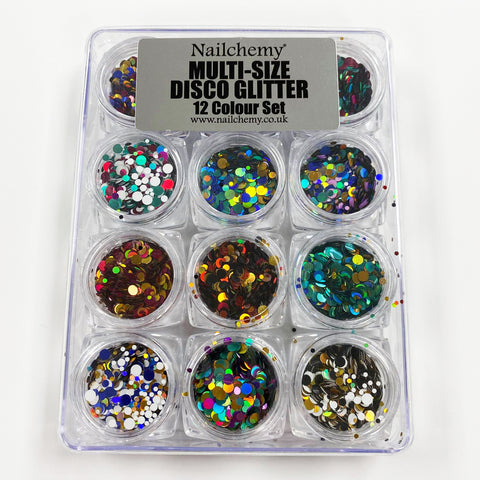 Disco Glitter 12 Colour Collection