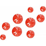 Neon Coral - Nailchemy Crystals Mixed Sizes - Pack of 100
