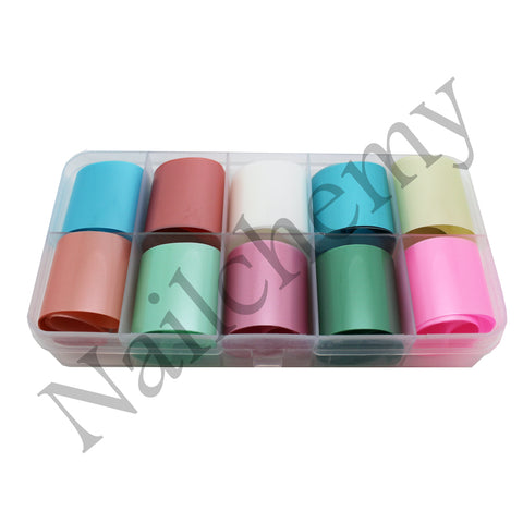 Pastel Foils - 10 x Colours