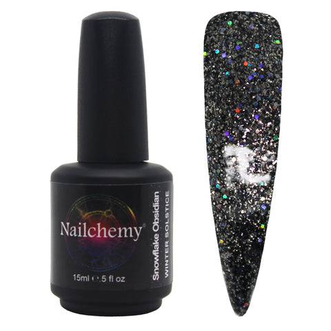 Snowflake Obsidian - Winter Solstice - Soak Off Gel Polish - 15ml