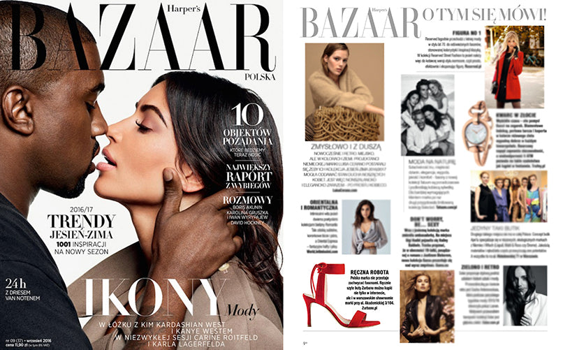 Zurbano Shoes in Harper's Bazaar Poland