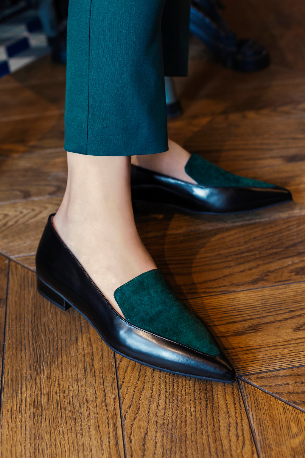 Ana Green Loafers