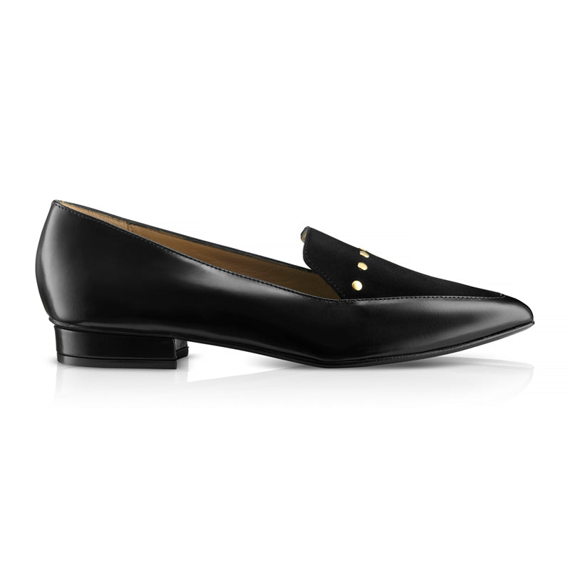 Ana Black Suede Leather Loafers Zurbano Shoes