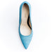 Azzurro Fish Scales Print Leather Pumps Zurbano