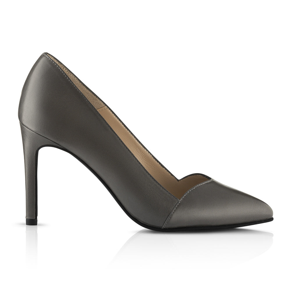 Bella High Heels Grey Leather Zurbano