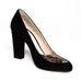 Black Suede Pumps Brown Python Skin