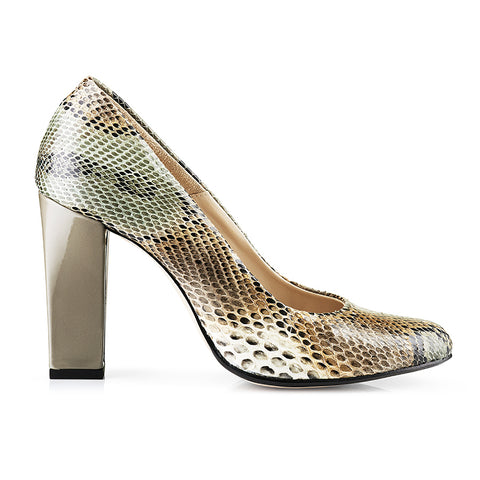 Bright Python Skin Pumps Zurbano