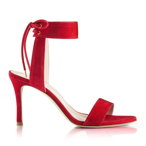 Daisy Suede Red Sandals Zurbano