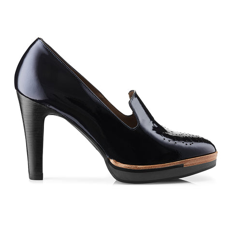 Dark Blue Patent Leather Pumps Zurbano