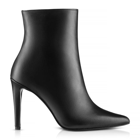 Eva Black Ankle Boots Italian Leather Zurbano Shoes