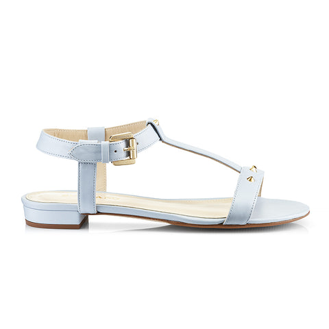 Mimi Blue Leather Sandals Zurbano