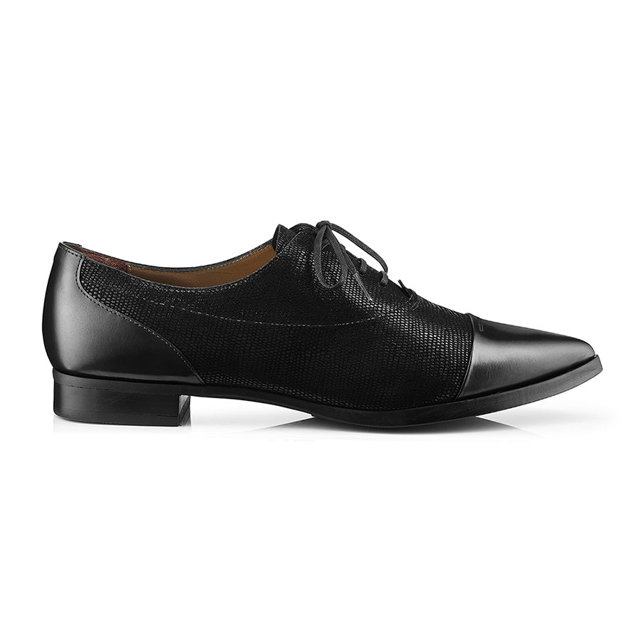 Senzo Oxford Metallic Suede Lace-Up Zurbano