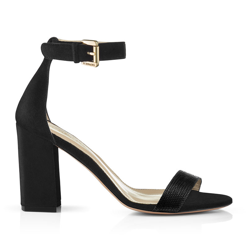 Zurbano Ruby Sandals Black Suede