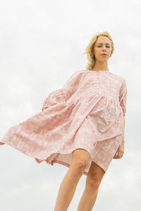 Tent Dress / Marshmallow Gingham