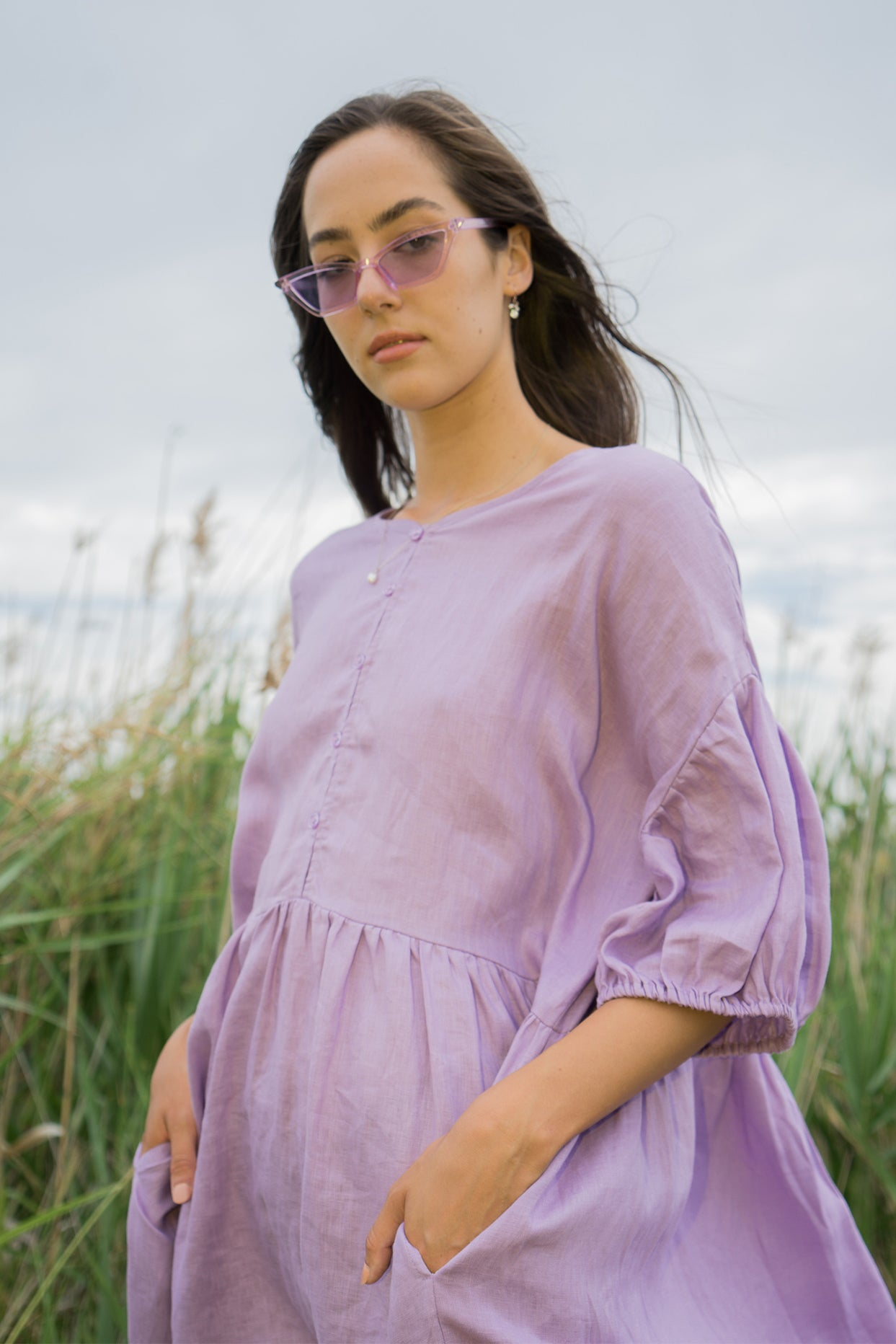 Long Tent Dress / Lavender