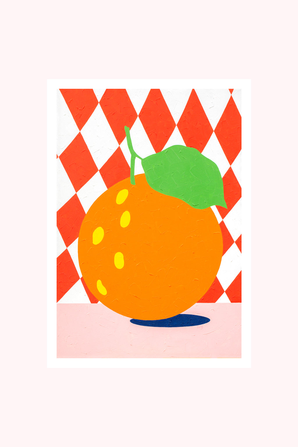 Artwork / Checked Tangerine