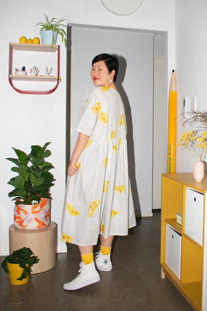 Long Tent Dress / Cheese