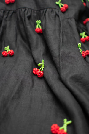 Tent Dress / Beady Cherries