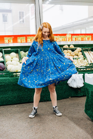 Tent Dress / Blue Swirls