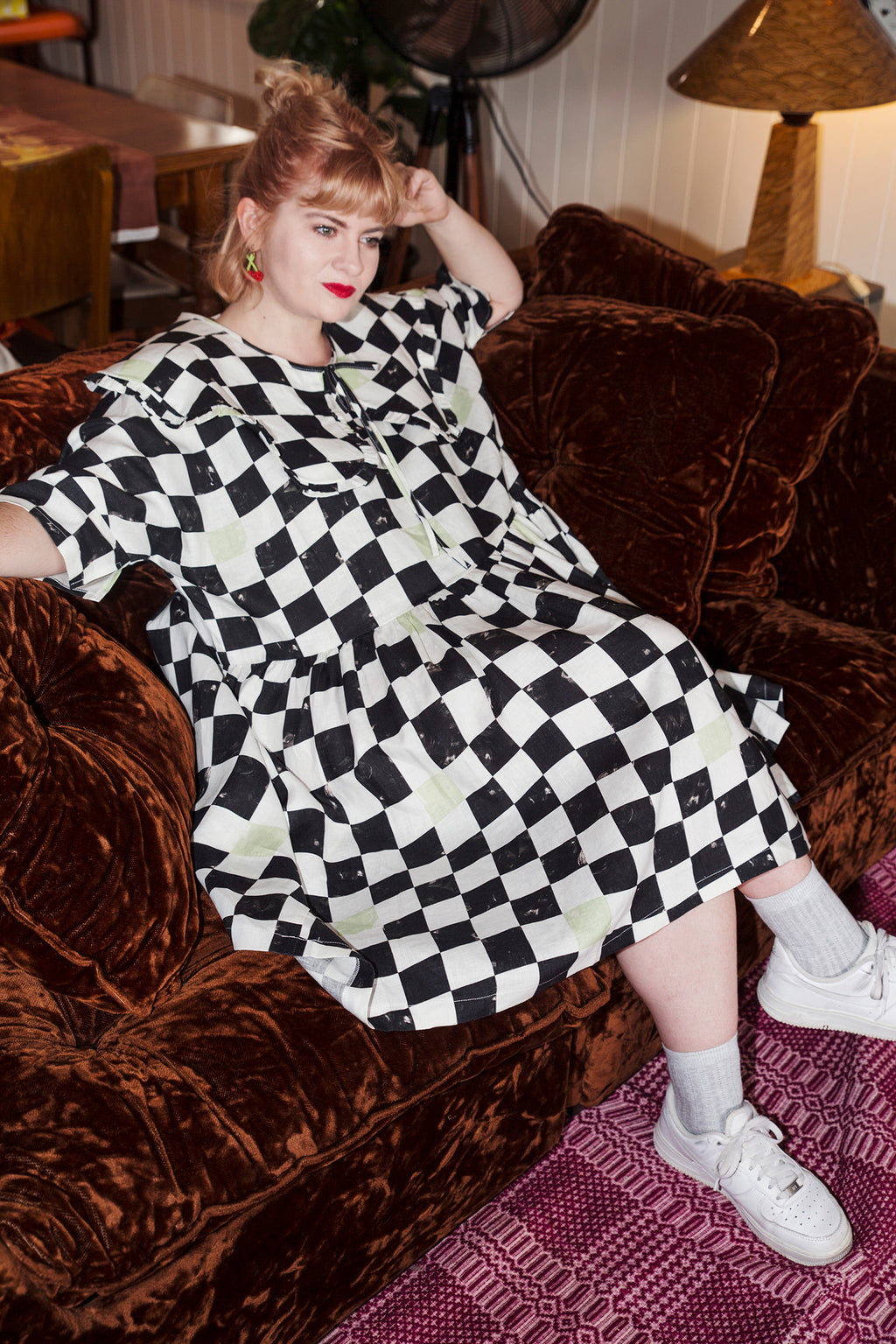 Tent Dress / Black White Checks